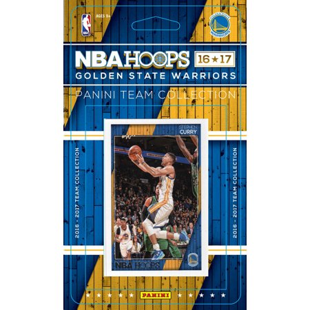 Golden State Warriors 2016 2017 Hoops Basketball Factory Sealed 9 Card NBA Licensed Team Set with Stephen Curry Kevin Durant Plus 1990 Nba Hoops Card