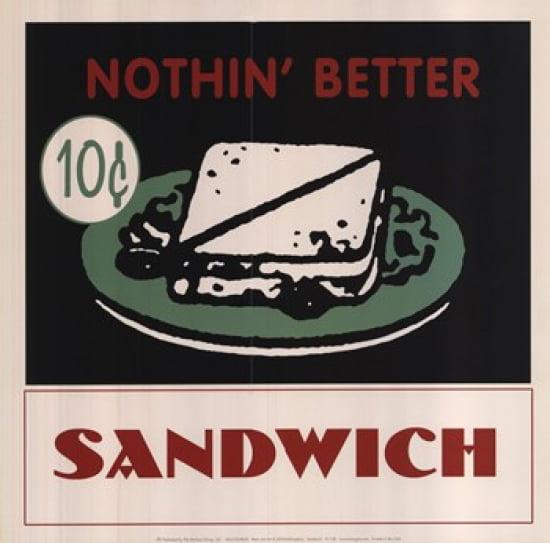 Sandwich Poster Print by (12 x 12)