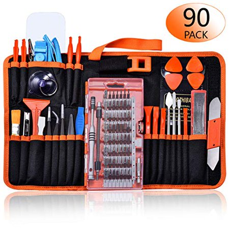 GANGZHIBAO 90pcs Electronics Repair Tool Kit Professional, Precision Screwdriver Set Magnetic for Fix Open Pry Cell Phone, Ap