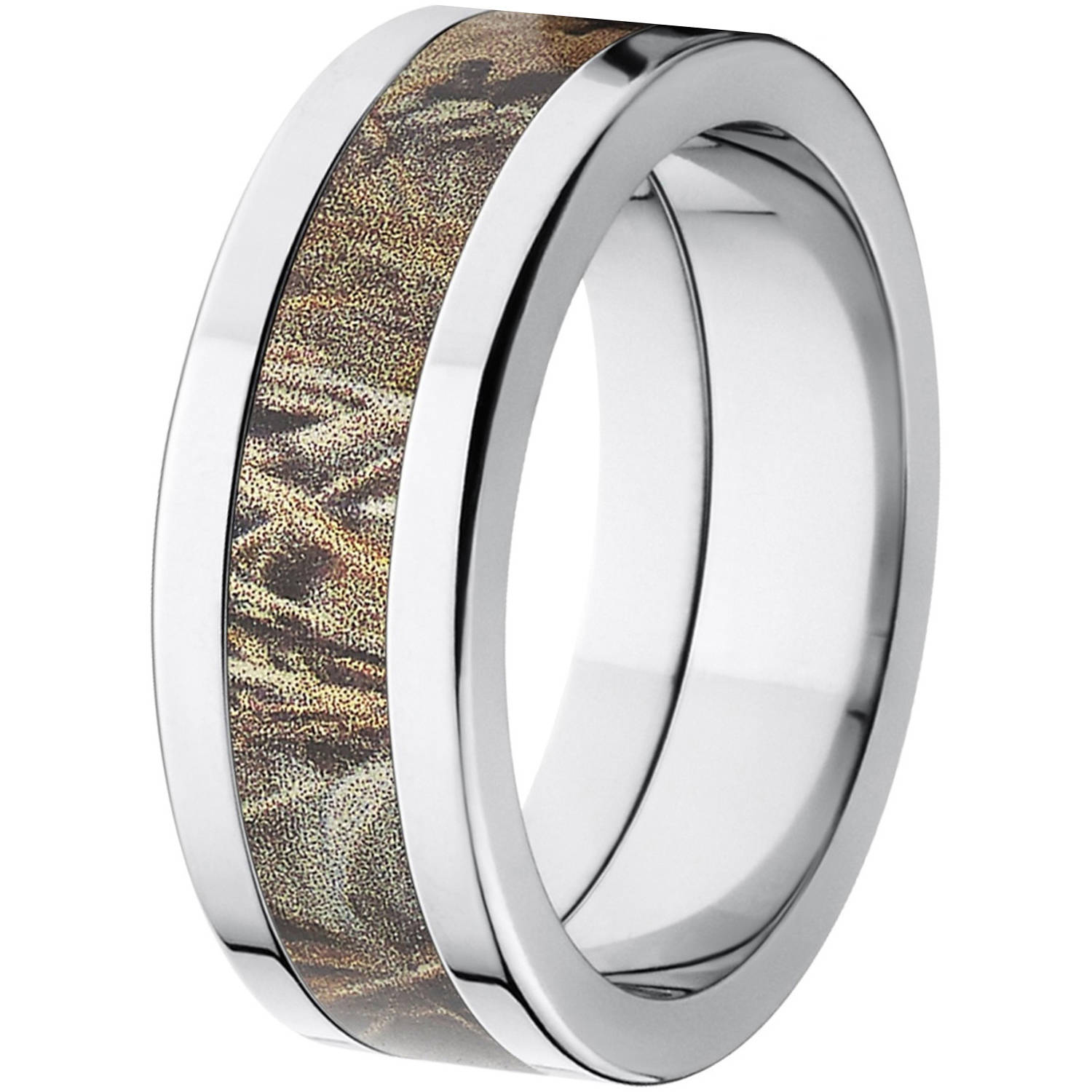 Realtree Max 4 Men s Camo 8mm Stainless Steel Wedding Band