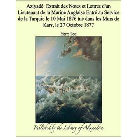 Aziyadé: Extrait des Notes et Lettres d'un Lieutenant de la Marine Anglaise Entré au Service de la Turquie le 10 Mai 1876 tué dans les Murs de Kars, le 27 - Le 31 Octobre Halloween