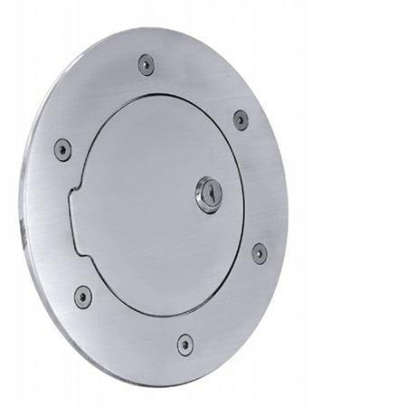 ALL SALES 6097PL 05-09 H3 HUMMER OUTSIDE SHROUD BILLET FUEL DR 8 1/8IN RING O.D. 5 1/8IN DOOR (2010 Hummer H3 Number Of Cylinders 5)