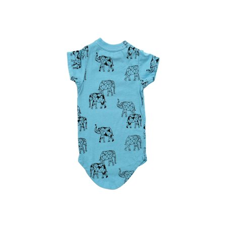 6 Sticks Baby Boy Elephant Print T-shirt (Baby Reveal T Shirts)