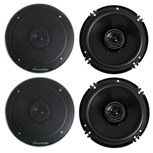 4) Pioneer 6.5 Inch 500 Watt G Series Coaxial Car Speakers Four| TS-G1645R