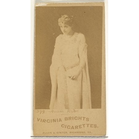 Card 299 Annie Robe from the Actors and Actresses series (N45 Type 1) for Virginia Brights Cigarettes Poster Print (18 x 24)