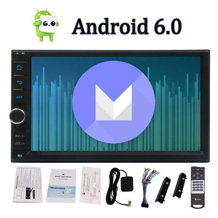 Standard Double 2 Din Android 6.0 In Dash Car Stereo Radio GPS Navigation Autoradio Head Unit Support 4G WIFI Bluetooth Mirrorlink OBD2 SWC FM/AM RDS Radio + Remote Control