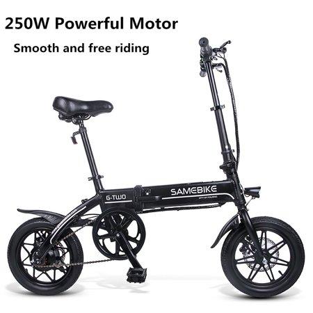 Lixada 14 Inch Folding Electric Bike Power Assist Electric Bicycle E-Bike Scooter 250W
