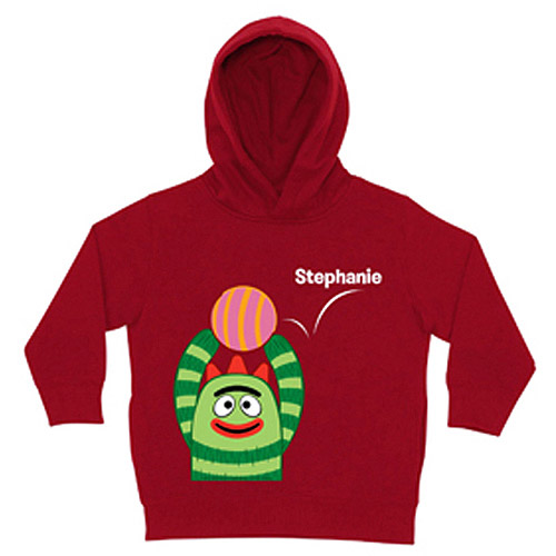 Personalized Yo Gabba Gabba! Brobee Ball Red Toddler Boy Hoodie