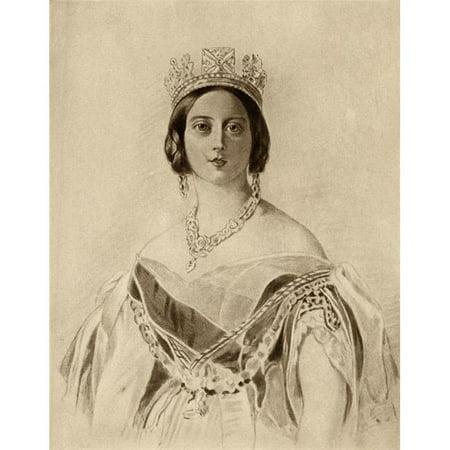 Posterazzi DPI1857005LARGE Queen Victoria 1819-1901 Princess Alexandrina Victoria of Saxe-Coburg Poster Print, Large - 24 x 32 - image 1 de 1