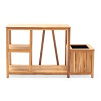 Belham Living Conners Acacia Potting Bench with Side Planter