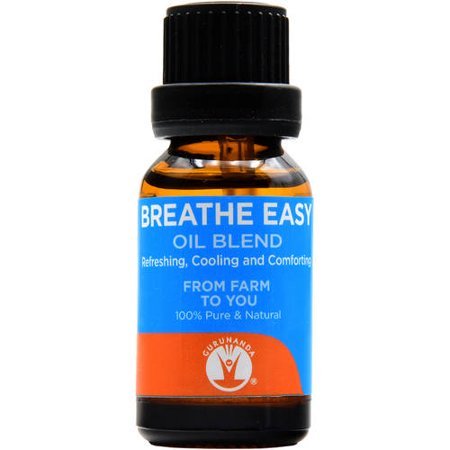 Gurunanda Breathe Easy Essential Oil Blend  0 5 Oz