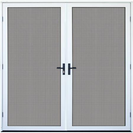 Titan security surface mount double aluminum meshtec security screen door white 72 x 80 - Meshtec screen door ...