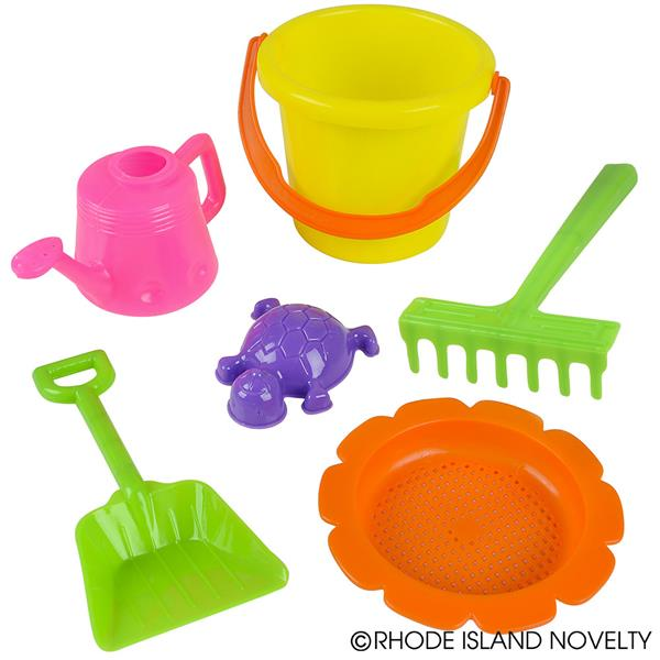 Beach Toys Set Sandbox Toys Comes with Watering Bucket, Hand Tools, Shovel and more � includes 6 Pieces for Kids (Pack... by