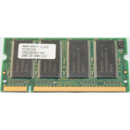 Hynix Ddr Memory - REFURBISHED Hynix HYMD232M646A6-H AA-A 256MB DDR PC2100 266MHZ SODIMM Laptop Memory