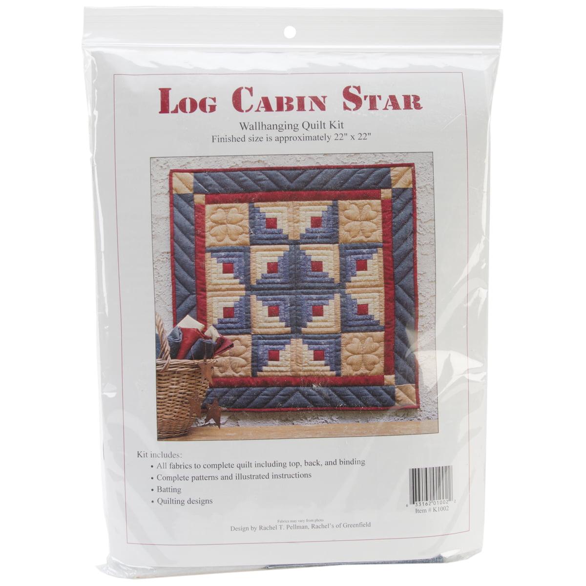 Log Cabin Star Wall Quilt Kit-Log Cabin