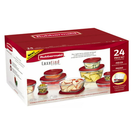 Rubbermaid 24-Piece Food Storage Set with Easy-Find Lids