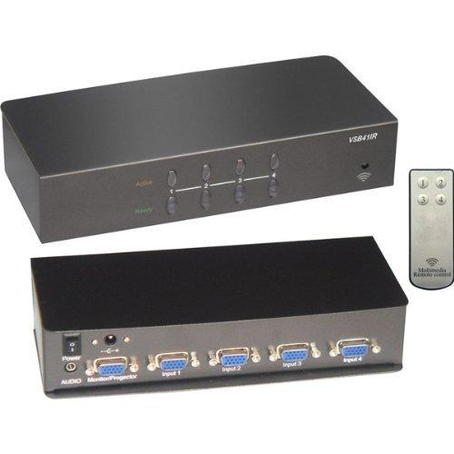 Rf Link VSB-41IR 4port Vga + Audio Switch Perp With Cables & Remote Control