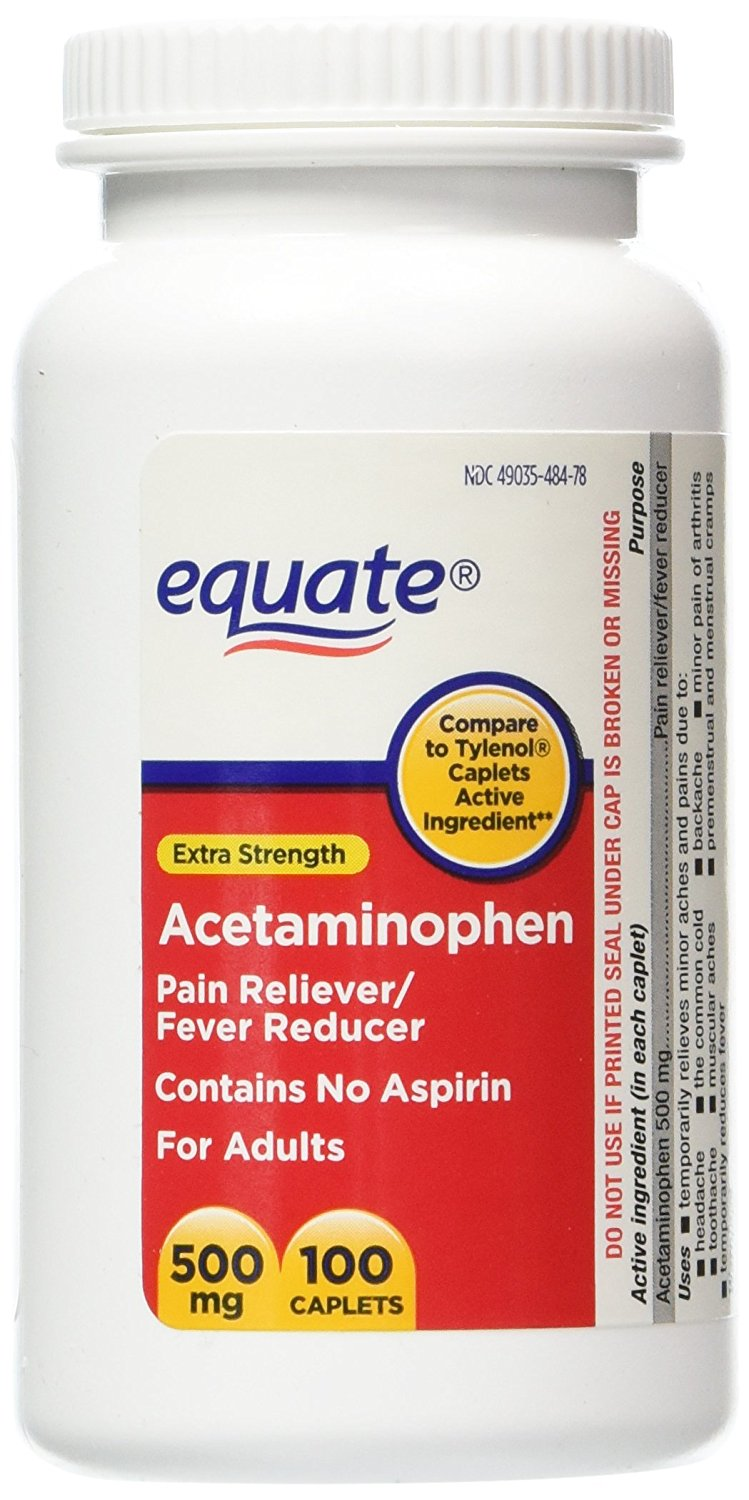 extra strength value pack acetaminophen pain reliever fever