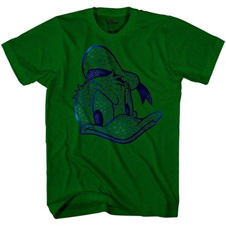 Donald Duck Face HD Gel Glossy Ink Disneyland Disney World Funny Humor Pun Tee Adult Mens T-shirt