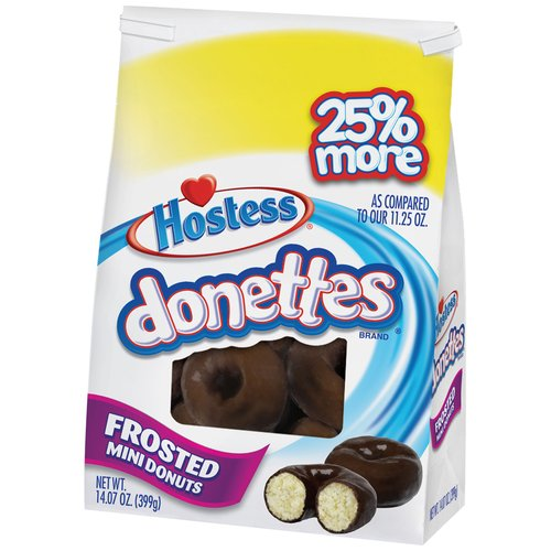 Hostess Donettes Chocolate Frosted Mini Donuts, 14.07 oz