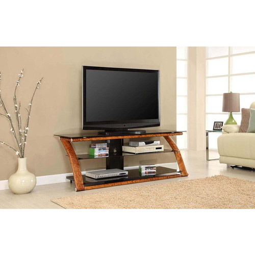 """Innovex Nexus TV Stand for TVs up to 65"""", Burl Wood"""