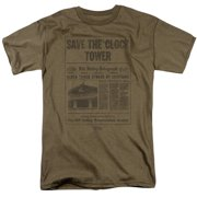 Back To The Future - Clock Tower - Short Sleeve Shirt - Large