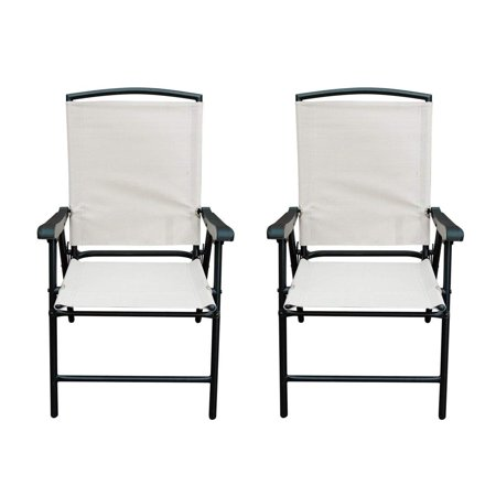 Fabulous Sunlife Modern Outdoor Folding Lawn Chairs With Steel Frame Portable For Lawn Garden Patio Beach Set Of 2 Black Frame Beige Fabric Inzonedesignstudio Interior Chair Design Inzonedesignstudiocom