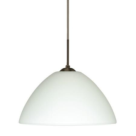 Besa Lighting 1JT-420107-LED Tessa 1-Light LED Cord-Hung Pendant with White Glass