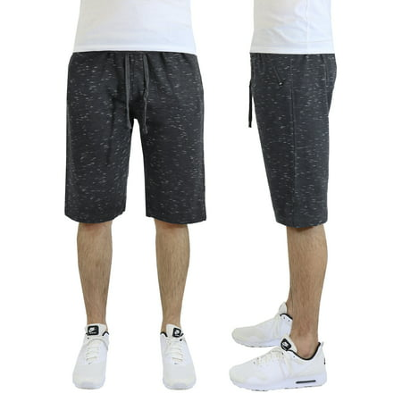 Men's French Terry Jogger Shorts With Zipper Pockets (Joggers Shorts)
