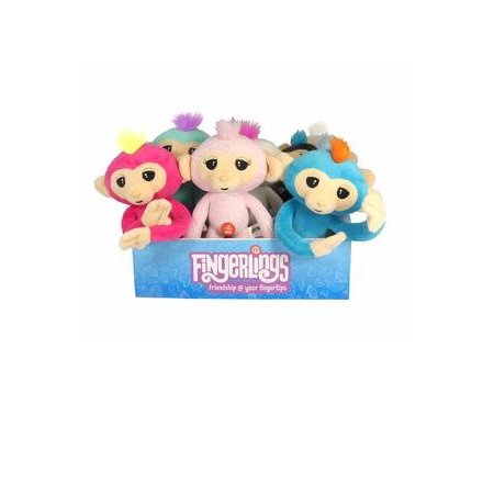 "Best Fingerlings Plush Monkey with Sound White with Pink Hair 10.5"" deal"