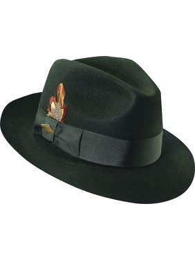 60cf302234ecdb Product Image stacy adams men's cannery row black wool pinch front fedora  hat