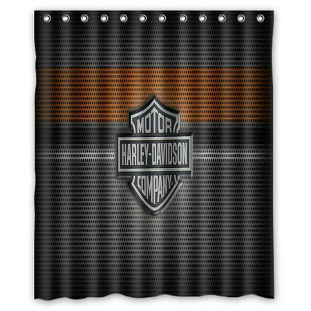 DEYOU Harley Davidson Shower Curtain Polyester Fabric Bathroom Shower Curtain Size 60x72 inches
