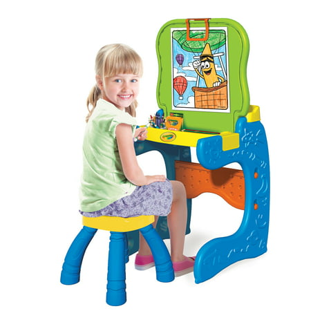 Crayola Desk N Draw 2-in-1 Studio Art Easel With Seat and Storage](Art Easel For Kids)