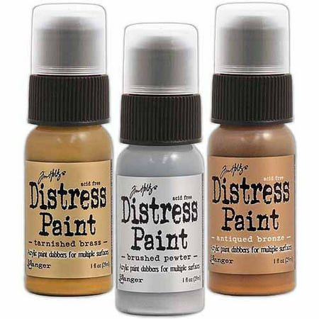 Ranger Tim Holtz Distress Paint, 1 oz - White Clown Paint