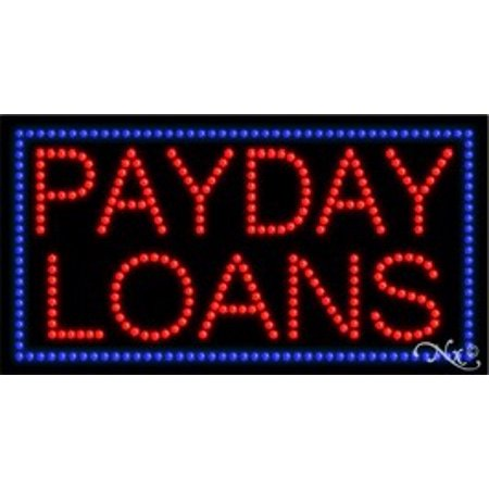 Payday Loans Led Sign  High Impact  Energy Efficient