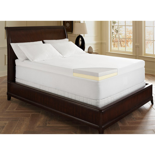 "Dream Serenity 4"" Memory Foam Topper, Multiple Sizes"