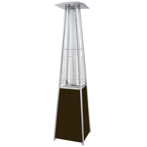Hiland Bronze Glass Tube Patio Heater by AZ Patio Heaters