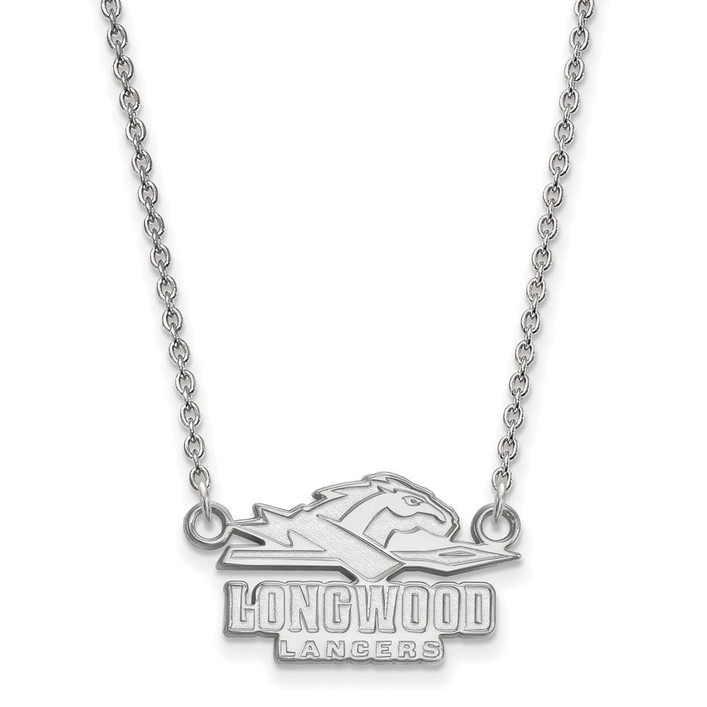Sterling Silver LogoArt Longwood University Small Pendant w/Necklace - image 1 de 1