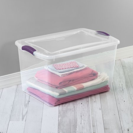 Sterilite, 66 Qt./62 L Latch Box, Moda Purple