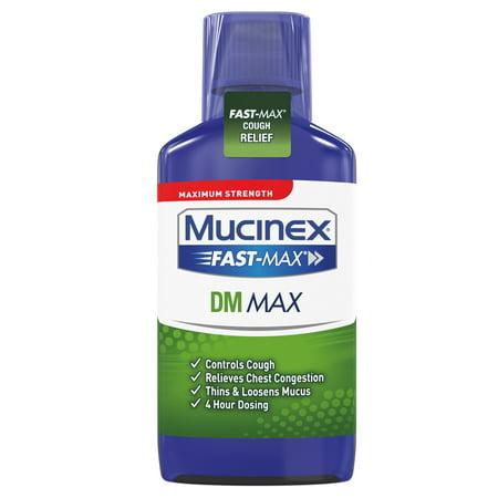 Mucinex Fast-Max DM Maximum Strength Cough Suppressant and Expectorant Liquid - 6 fl oz Mucinex Dm Expectorant