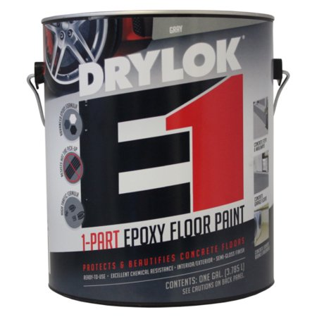 Gallon Gray 1-Part Epoxy Floor Paint ()