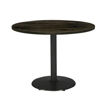 KFI Studios Urban Loft 3.5' Round Dining Table, Espresso, Silver Base