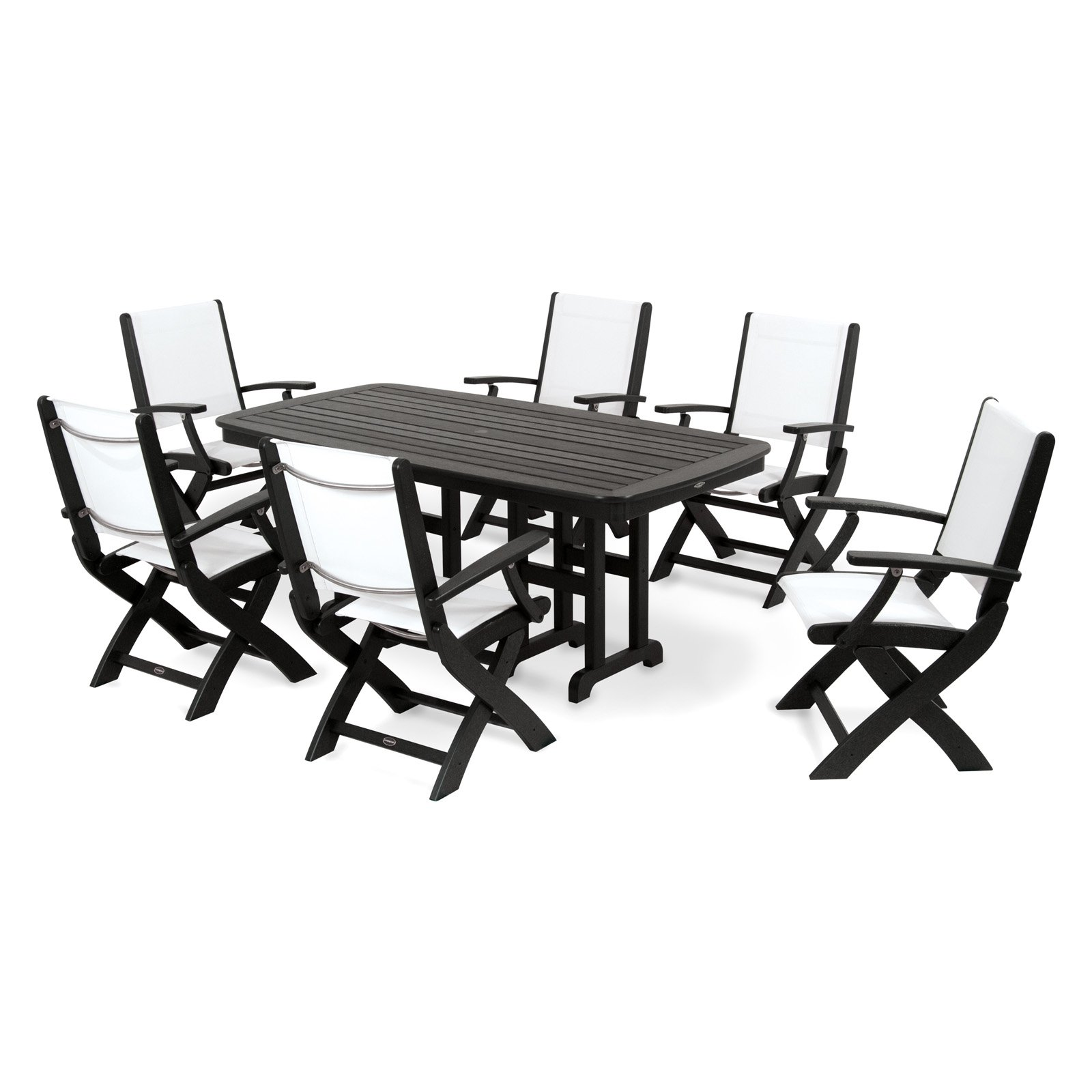 POLYWOOD® Coastal Sling Dining Set - Seats 6