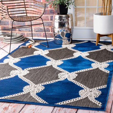 Nuloom Indoor/ Outdoor Nautical Ropes Porch Blue Rug (8' x ... - photo#27