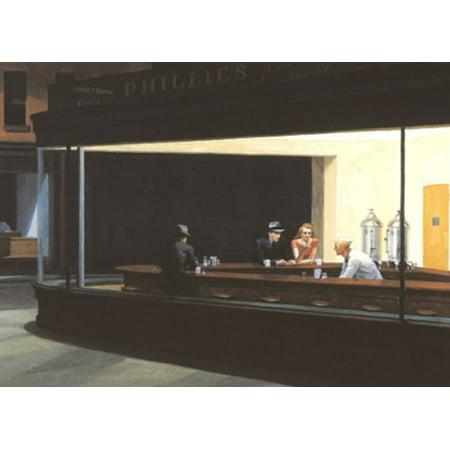Nighthawks by Edward Hopper 5x7 Art Print (Nighthawks Hopper)