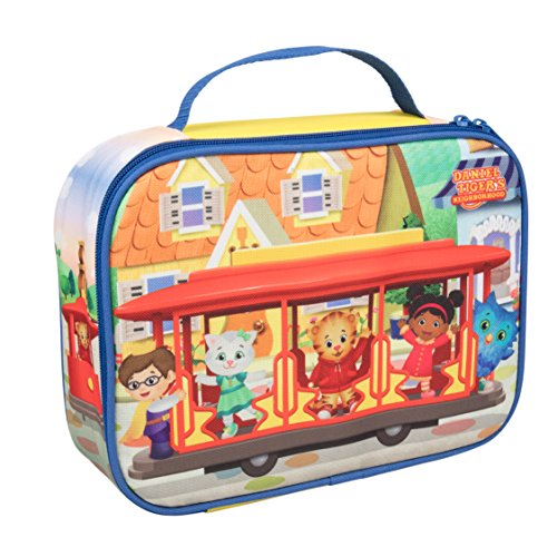 "Daniel Tiger's Neighborhood - Insulated Durable Lunch Bag Tote, Reusable Lunch Box with Handle - ""Trolley with Friends"""