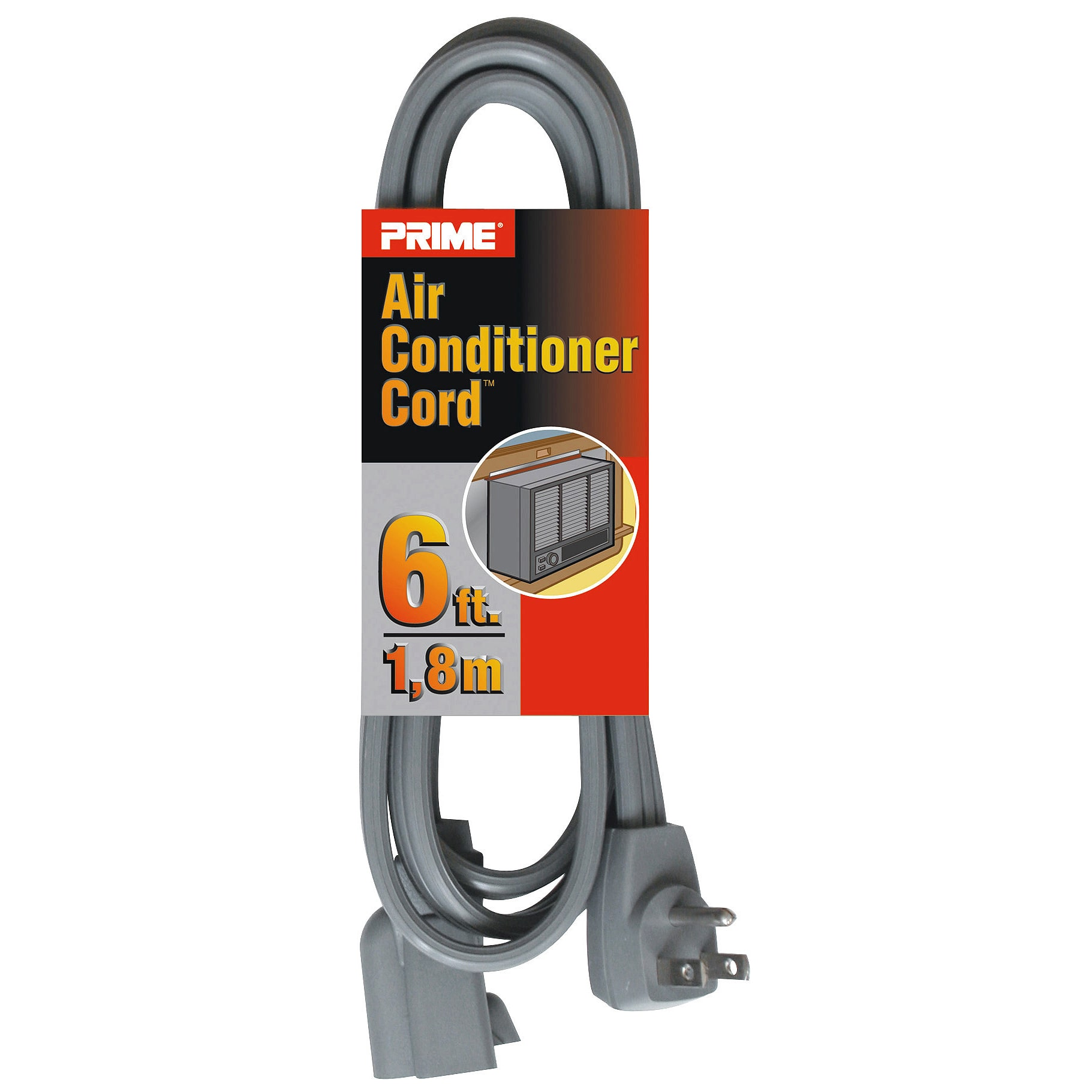 Prime  EC680506L 6' 14/3 SPT-3 Gray Air Conditioner Cord