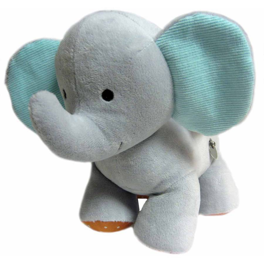 Carter's Neutral Elephant Waggy Musical Toy