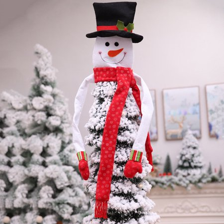 Spencer Christmas Tree Snowman Topper Hugger Xmas Party Decoration Scarf and Gloves Ornament Supplies