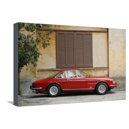 330 Coupe (1968 Ferrari 330 GTC Coupe Stretched Canvas Print Wall Art )
